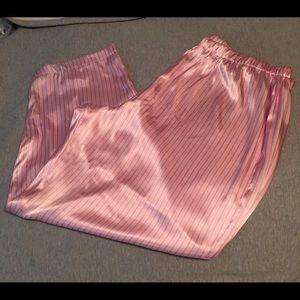 Faded Glory Silky Pajama Bottom Plus Size 3X Pink